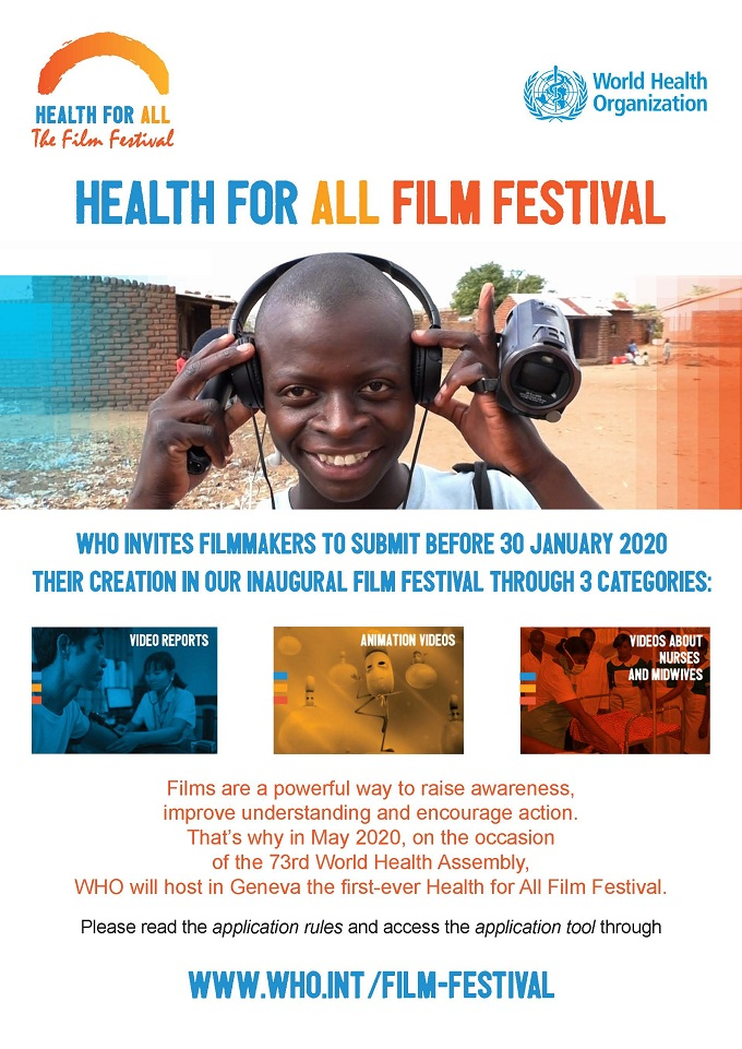 Poster Health for All Film Festival 18NOV2019 en