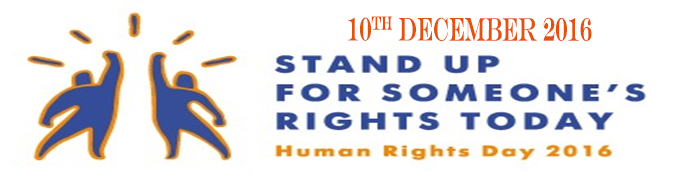 PRESS RELEASE: HUMAN RIGHTS DAY: 'STAND UP FOR SOMEONE'S RIGHTS TODAY!'