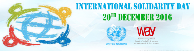 PRESS RELEASE: INTERNATIONAL HUMAN SOLIDARITY DAY