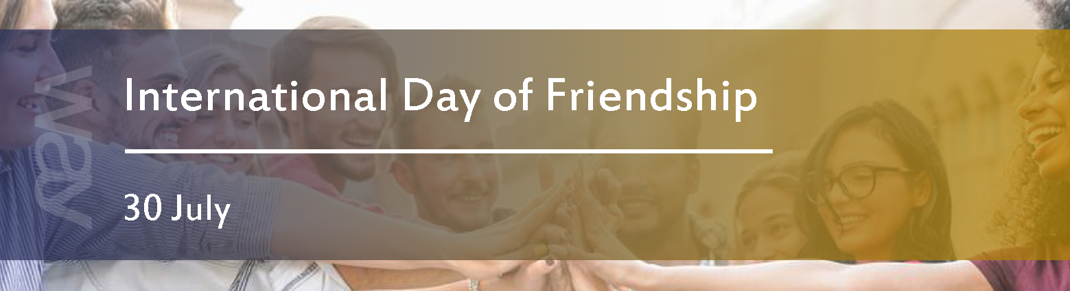 web banners int day friendship